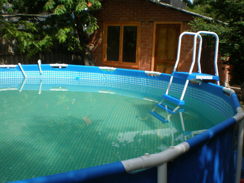 Buy frame pool from awning in Moscow a rectangular or round any size