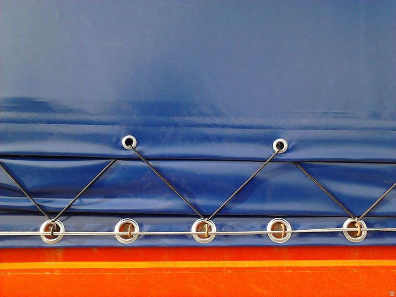 If you bought a canvas awning without mounting holes in order semitrailer we install metal eyelets for tarpaulins in Moscow, we easily nabёm ring exactly to the size of each loop